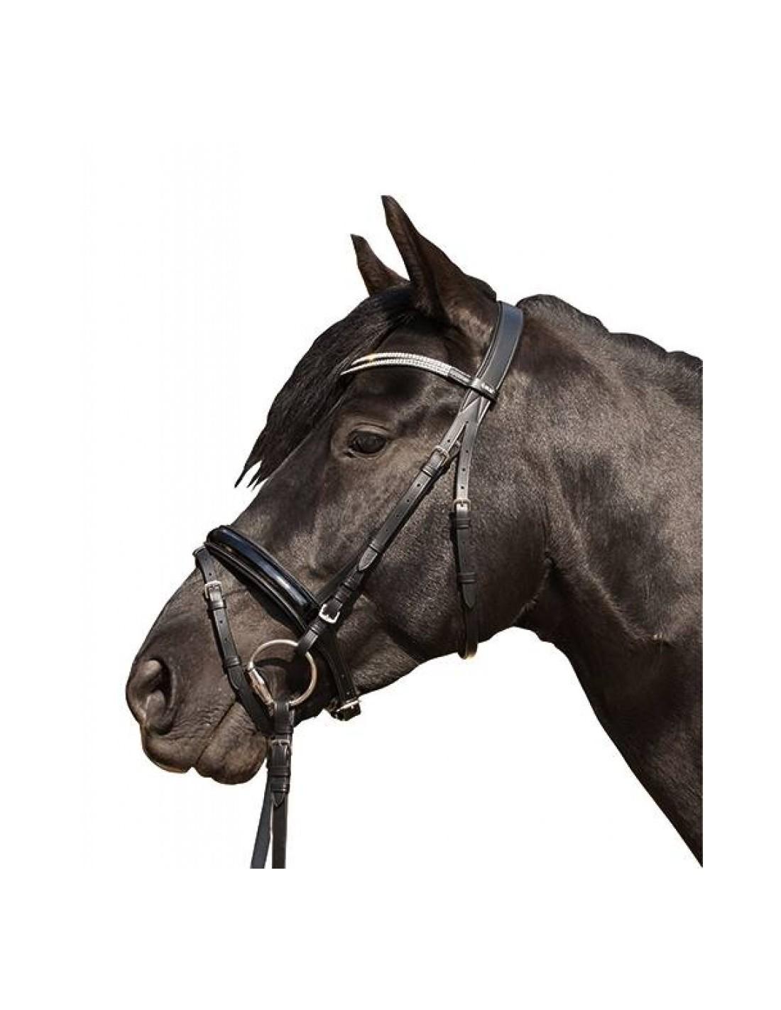 HKM-schlaufzügel talla Pony negro